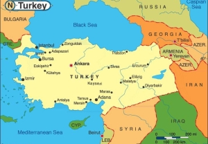 Turkey country on the map