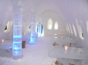 Finland snow castle