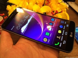 LG G Flex screen