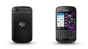 Blackberry q10 front and back