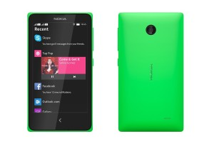 Nokia X front and back