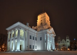 Minsk City Hall and Cathedral of the Holy Name of Mary