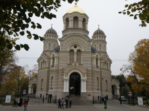 Riga Orthodox Cathedral in Esplanade Park