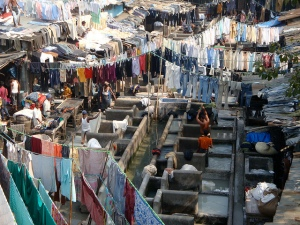 Open Air Laundry in Dharavi, Mumbai
