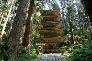 Gojū-no-tō Pagoda on Mount Haguro