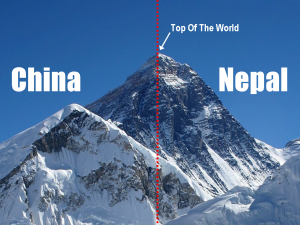 Mount Everest, China and Nepal
