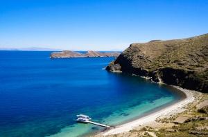 View from Isla del Sol in Lake Titicaca, Bolivia