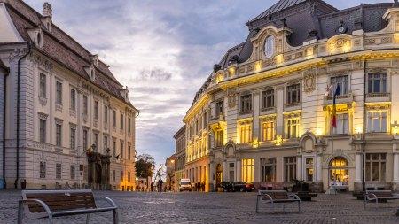 Romania Transilvania City Town Sibiu UHD