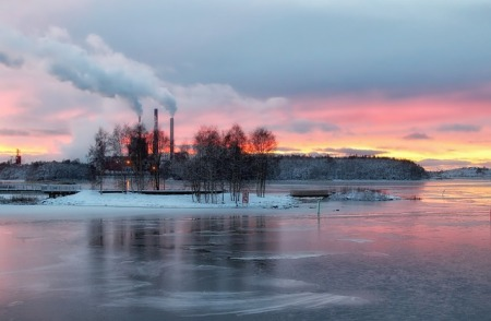finland-sky-clouds-sunset-river-ice-frozen-water