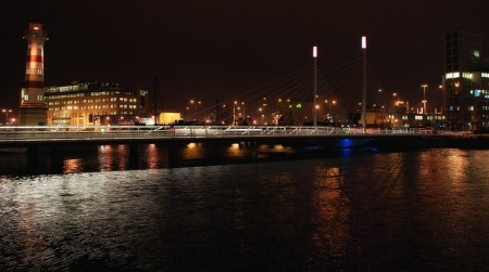 malmo-sweden-city-buildings-night-lights-river