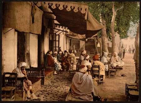 Outside a Moorish cafe, Tunis, Tunisia