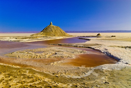 The salt lake of Chott el Jerid, Tunisia