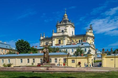 Ukraine Tourism Cathedral Church Lviv Sights City